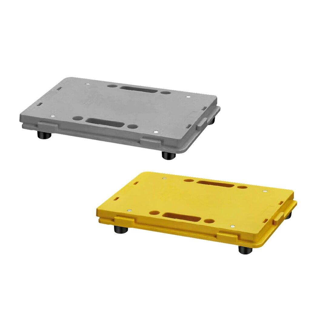 快速出貨【台灣製造】組合式棧板-黃/灰-拼接組合 手提 防潮 防滑 地墊 耐酸鹼 工作棧板 耐重100KG