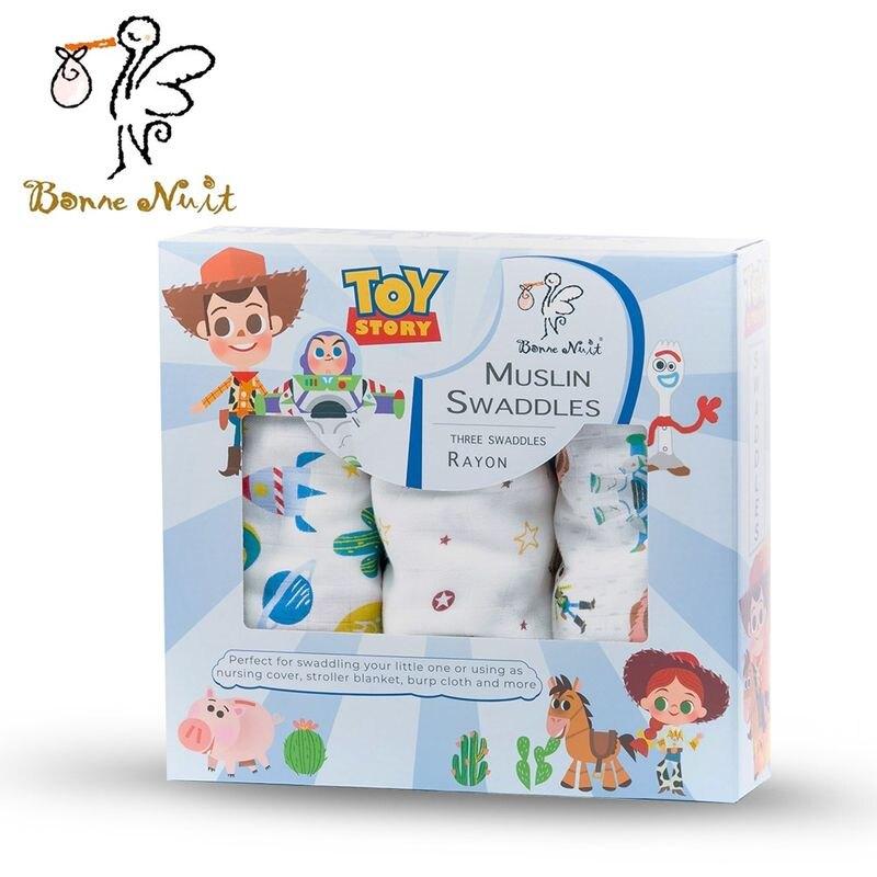 Bonne Nuit 迪士尼竹纖維包巾(三入裝)-玩具總動員★愛兒麗婦幼用品★