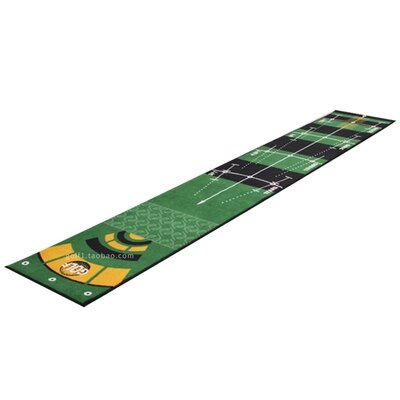 室內高爾夫 高爾夫推杆練習毯室內室外推杆訓練墊果嶺毯推杆練習器帶標尺水洗
