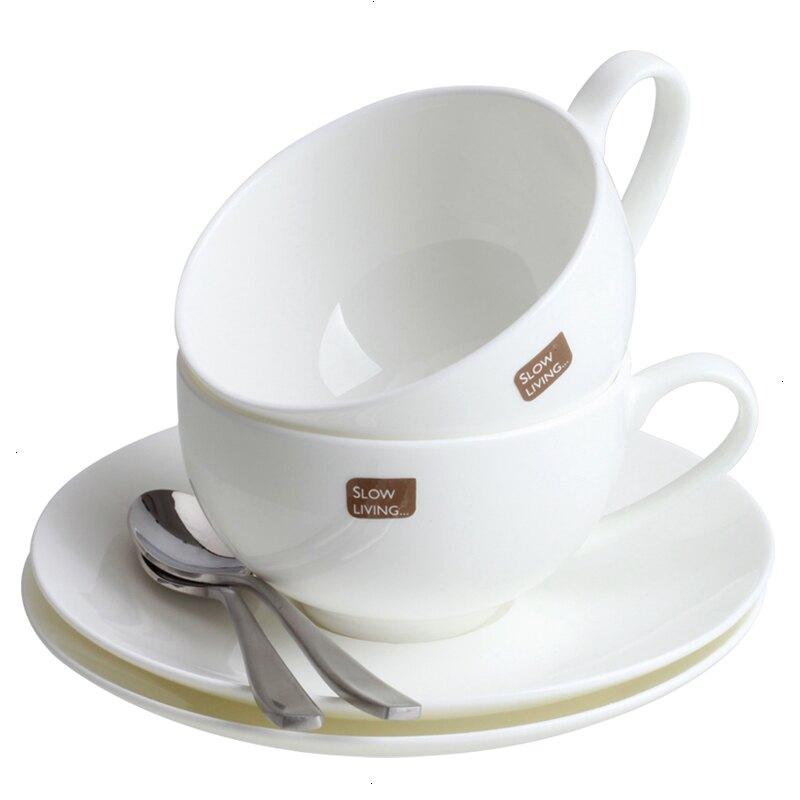 泰摩 骨瓷咖啡杯碟套裝 典雅簡約咖啡器具歐式下午茶杯子配咖啡勺