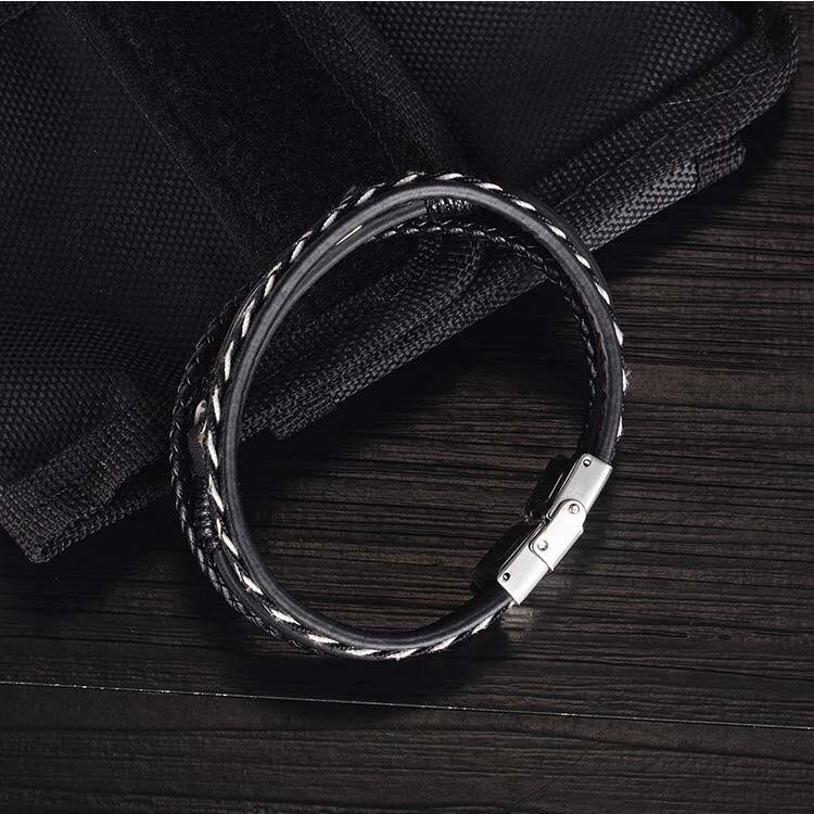 【5折超值價】鈦鋼皮手環多層設計電吉他造型潮流時尚鈦鋼皮手環