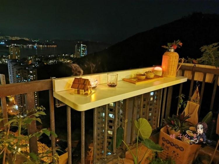陽台掛桌 陽台懸掛折疊吧台 欄桿掛桌 戶外折疊桌 升降書桌陽台休閒吃飯桌T