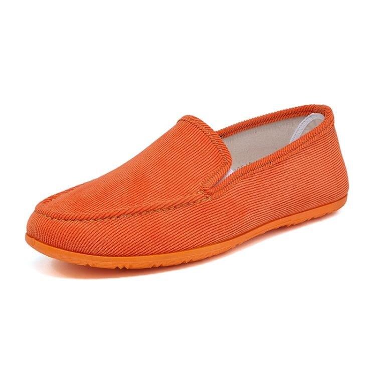 帆布鞋 春季透氣男鞋北京老帆布鞋男韓版鞋子休閒鞋套腳駕車懶人鞋男布鞋【顧家家】
