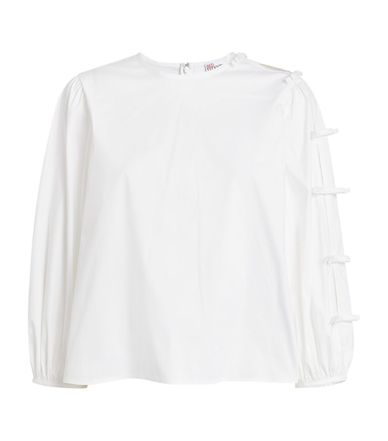 Red Valentino Puff-Sleeved Blouse