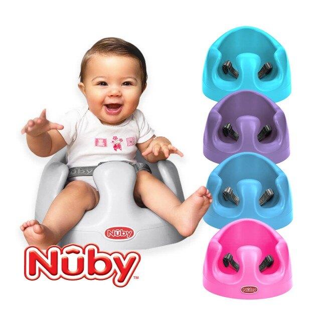 【Nuby】兩用幫幫椅-高雅灰/湖水藍/粉桃紅/葡萄紫/靛青藍 可加購餐盤配件