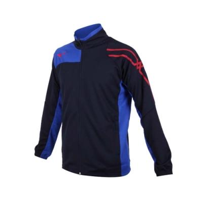 MIZUNO 男針織立領外套-吸濕排汗 抗UV 慢跑 運動 美津濃 32TC103314 丈青藍紅