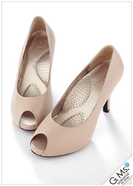 G.Ms. MIT系列-純手工完美比例魚口厚底高跟鞋-杏色