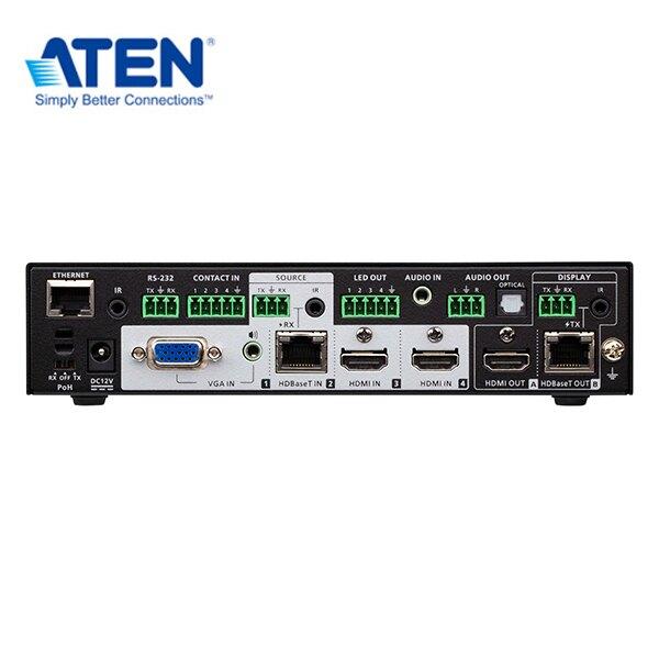 ATEN VP1421 4 x 2 True 4K 矩陣式簡報切換器,搭載升頻器、DSP和HDBaseT-Lite