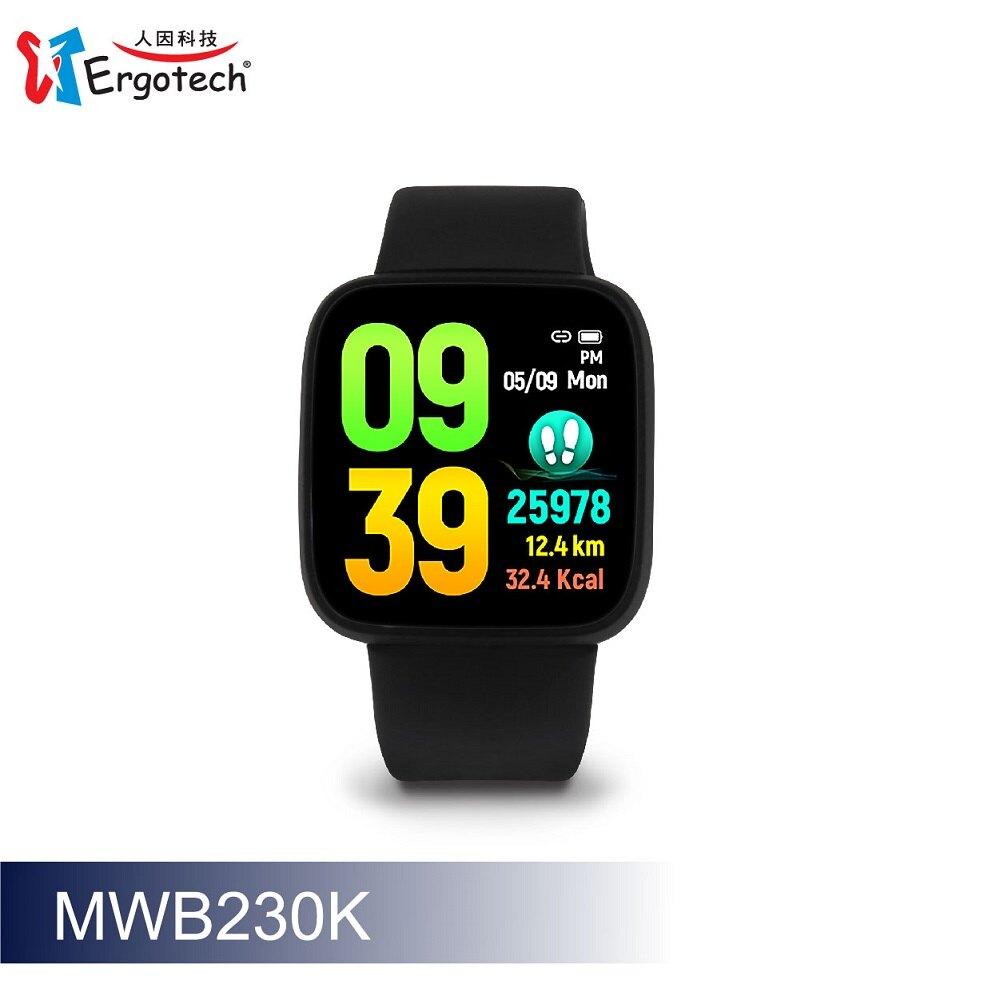 人因科技 ERGOLINK MWB230 【原廠公司貨】 心律智慧監測運動手環 血壓趨勢 血氧飽和度偵測
