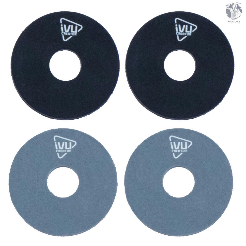 IVU Creator SB 吉他背帶扣橡膠材質黑灰4個裝