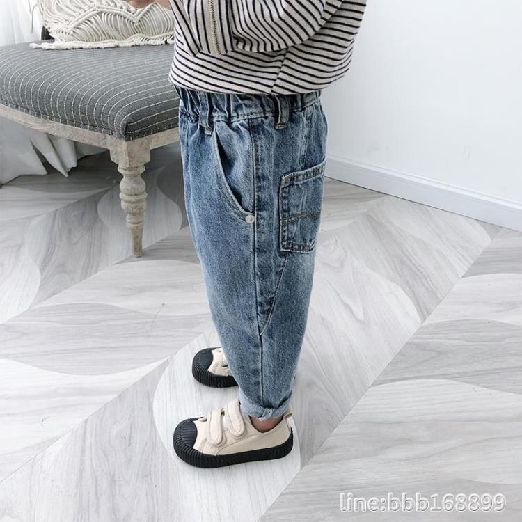 男童褲子 男童牛仔褲春秋新款寶寶洋氣褲子中小兒童潮褲男孩帥氣長褲 -盛行華爾街