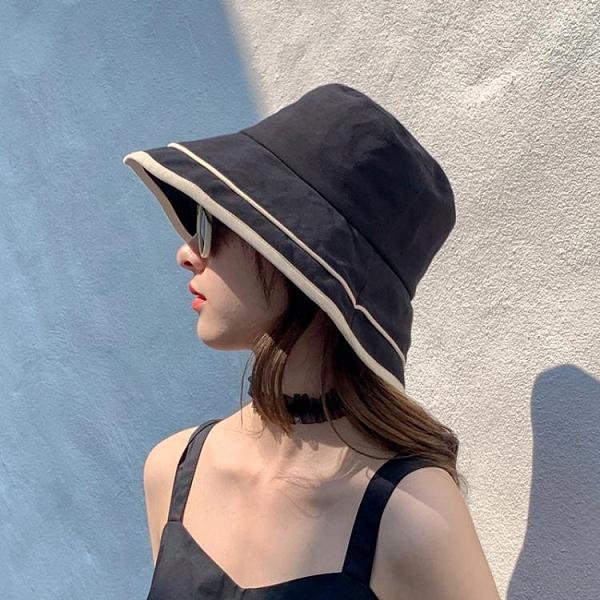 漁夫帽女夏季薄款透氣韓版百搭太陽帽春夏遮陽帽防曬紫外線帽子潮 檸檬衣舍