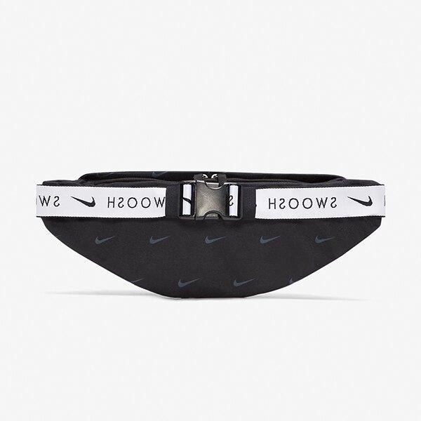 NIKE HERITAGE SWOOSH HIP PACK 腰包 胸包 串標 小勾 黑色【DC7343-010】