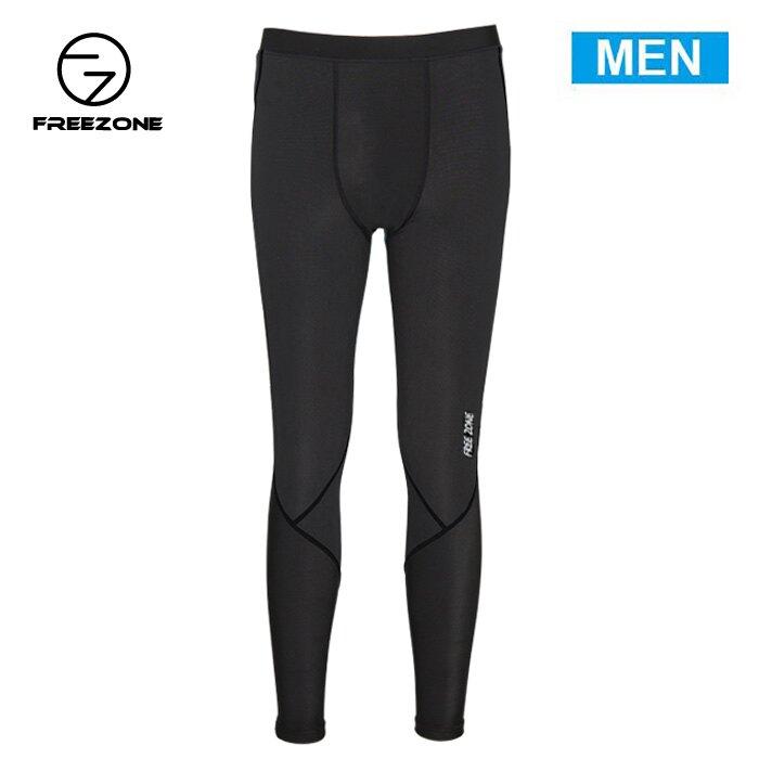 【FREEZONE 台灣】100型 機能壓力褲 運動褲 男款 黑色 (FZ100M-LONG)