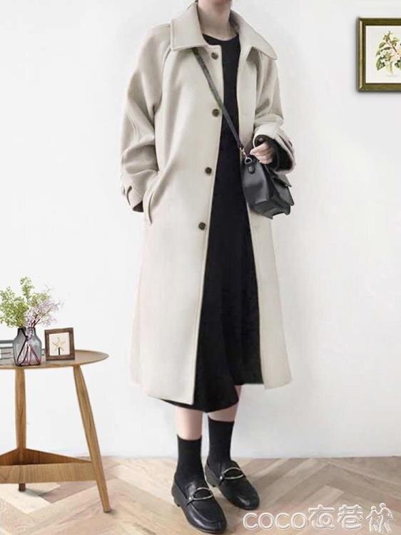 秋冬毛呢外套女2021年新款赫本風大衣氣質冬季加厚中長款溫柔呢子【居家家】