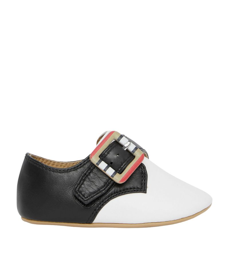 Burberry Kids Leather Icon Stripe Shoes