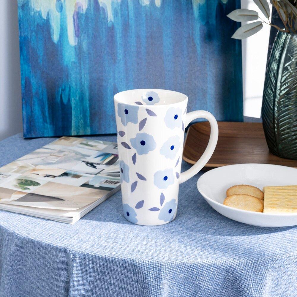 花漾語錄馬克杯500ML-藍紫-生活工場