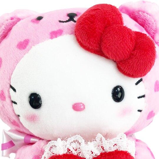【領券折$30】小禮堂 Hello Kitty 迷你絨毛玩偶 情人節娃娃 絨毛娃娃 小型玩偶 布偶 (粉 熊裝)