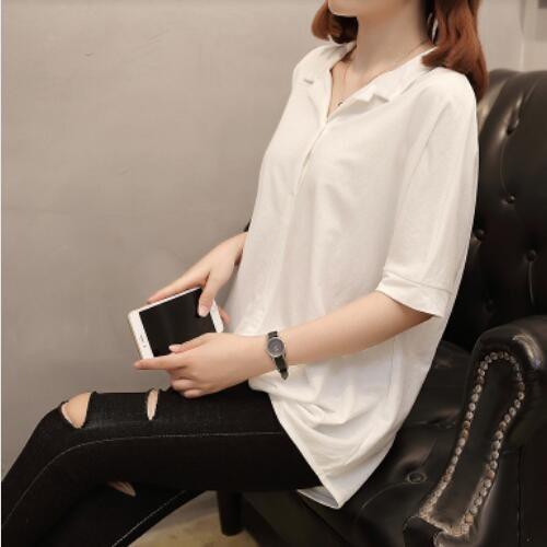 襯衣上衣 休閒衫 簡約 中大尺碼XL-4XL新款韓版加大碼女裝夏季短袖襯衫外穿2F060-8930.胖胖美依