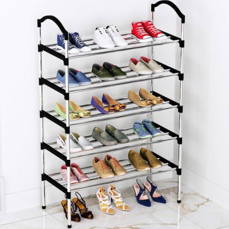 鞋櫃 鞋架子簡易門口放家用經濟型收納防塵鞋櫃多層宿舍大學生室內好看--(如夢令)免運-桃園出貨