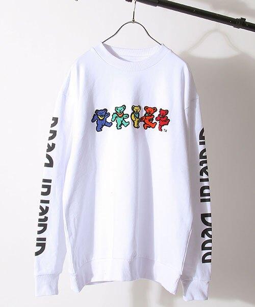 【領券滿額$1500折150】【GRATEFUL DEAD】死之華樂團側身LOGO小熊運動衫