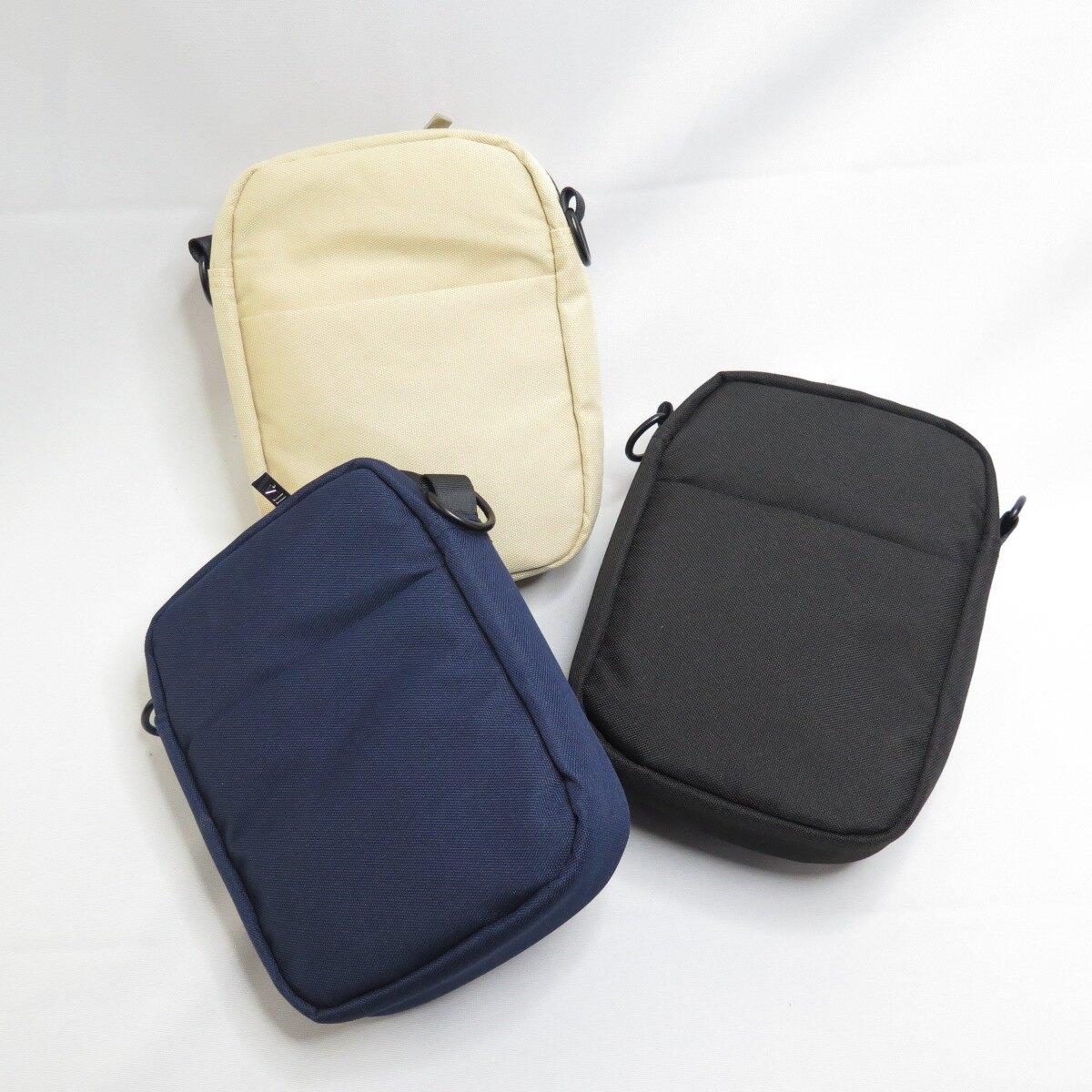 FILA 潮流休閒側背方包 斜跨包 三色帆布包 BMV3014- 藍/卡其/黑【iSport愛運動】