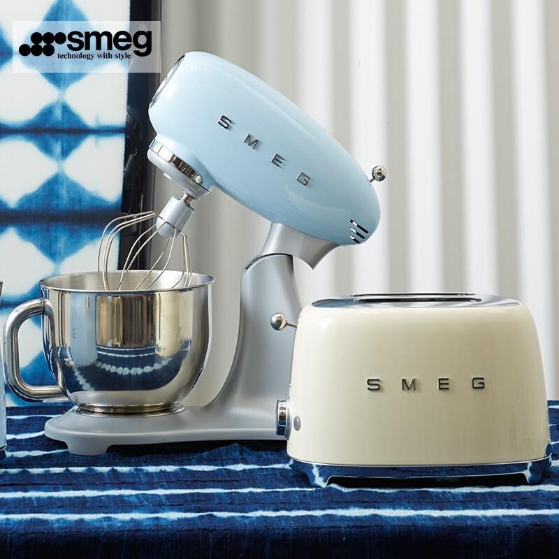 【官方正品】SMEG斯麥格TSF01兩片式烤面包機家用早餐吐司機意式設計