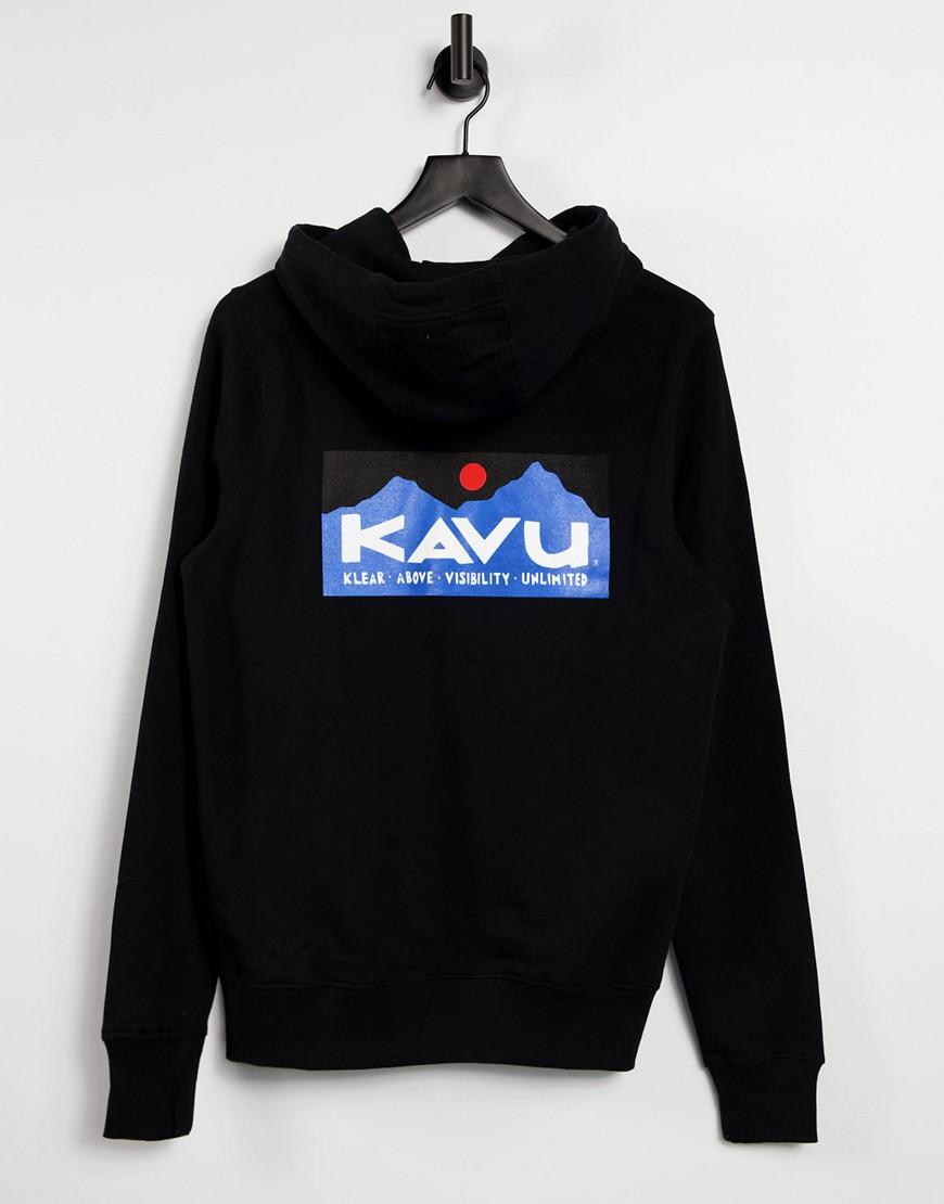 Kavu Klear Above back print hoodie in black