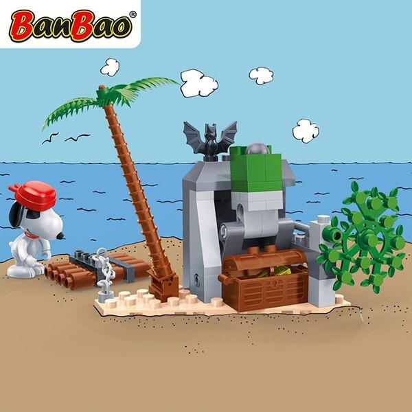 7520【BanBao 積木】史努比系列-蝙蝠洞藏寶