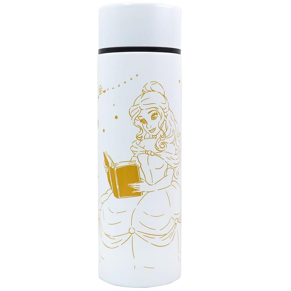 Marimo 細身輕量保溫保冷不鏽鋼隨手瓶 120ml 迪士尼 貝兒 公主房間 白