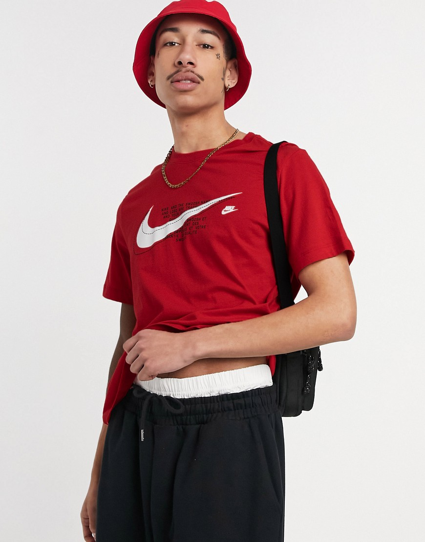 Nike court t-shirt in red