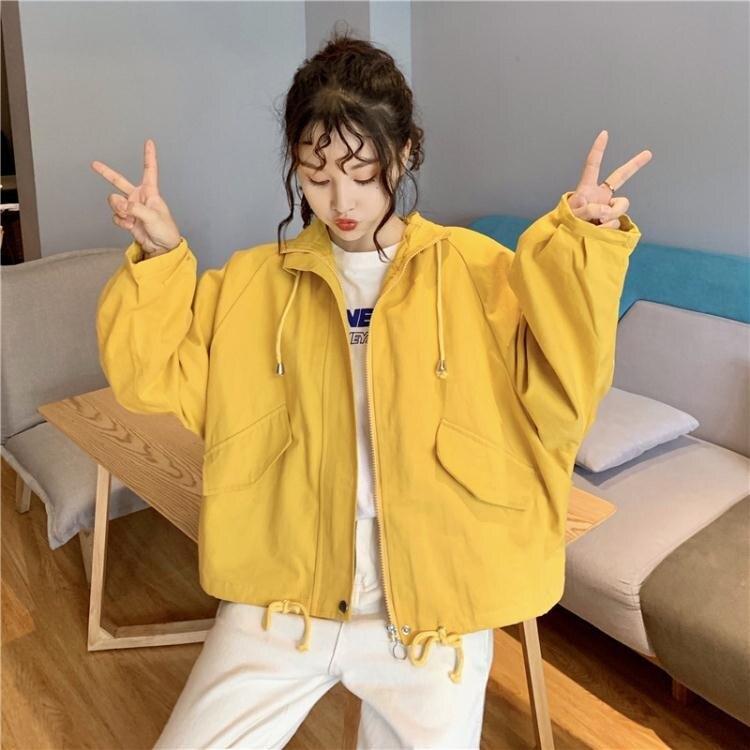 風衣 短風衣工裝外套女2020秋裝新款韓版小個子寬鬆百搭休閒學生上衣潮1 愛尚優品 五折特惠