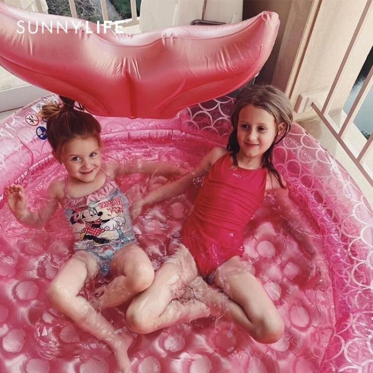 游泳池 澳洲嬰兒童家用游泳池寶寶遮陽充氣海洋球池戲水 【簡約家】
