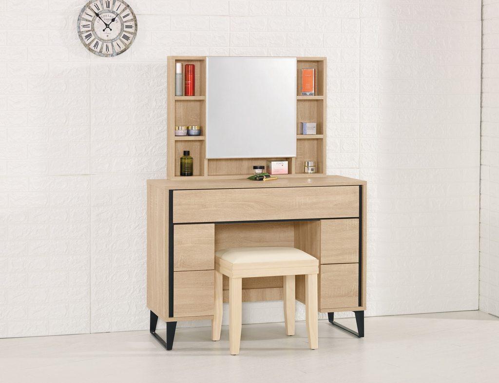 【尚品傢俱】CM-621-3 尼爾森3.3尺化妝台(含椅)