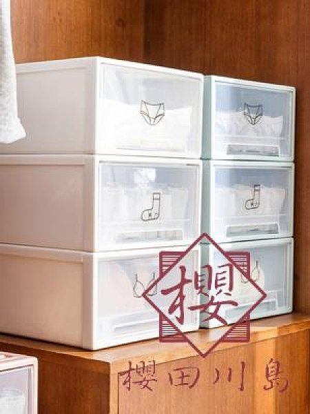 內衣襪子收納盒家用抽屜式放文胸內褲的儲物盒子【櫻田川島】