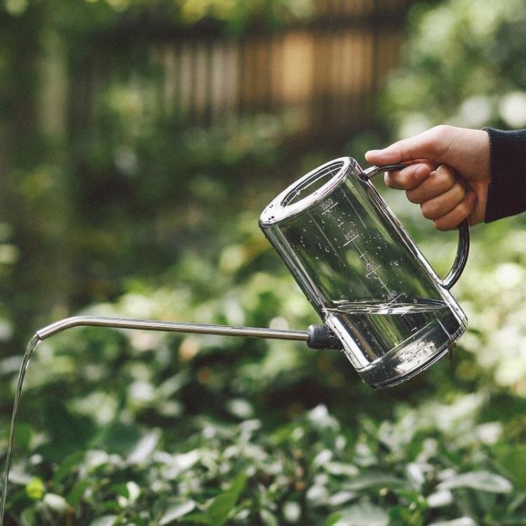 不銹鋼長嘴塑料灑水壺家用澆花壺施肥壺淋花盆栽澆水神器園藝工具