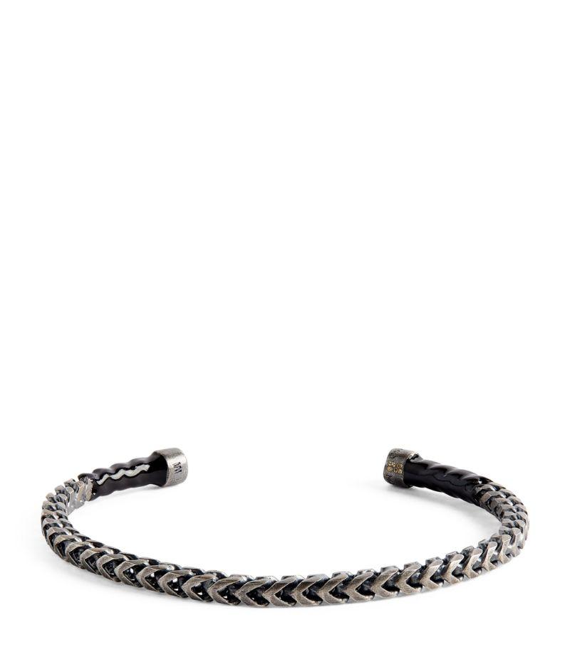 Marco Dal Maso Oxidised Silver Cuff Bracelet