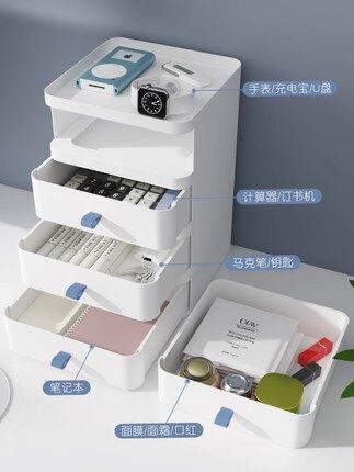 辦公桌面收納盒塑膠紙巾盒抽屜式收納櫃書桌上學生檔雜物置物架【my29】