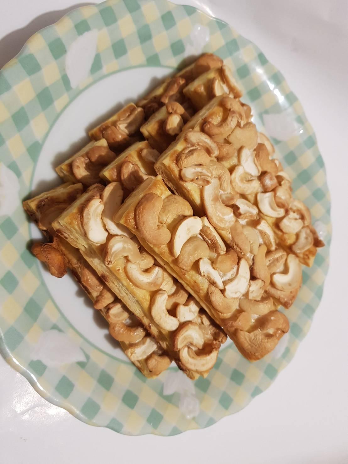 腰果起酥 (10片/盒),點心,零食,堅果乾,甜點,小西點,手作餅乾