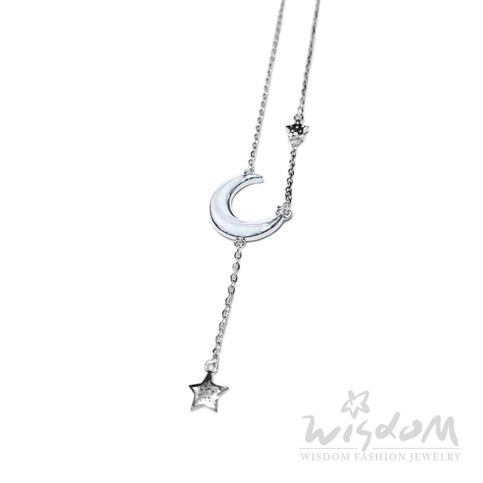 威世登時尚珠寶-珍珠貝星月純銀套鍊(白) 浪漫優雅 禮物推薦 SB00221-ACEX