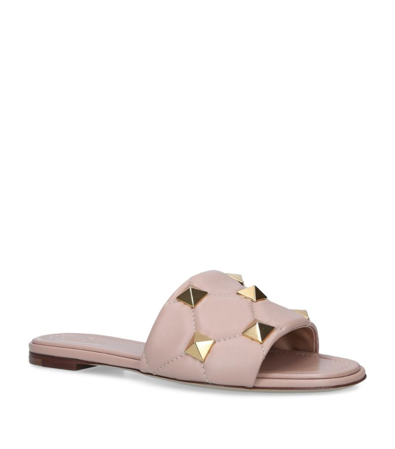 Valentino Valentino Garavani Leather Oversized Rockstud Sandals