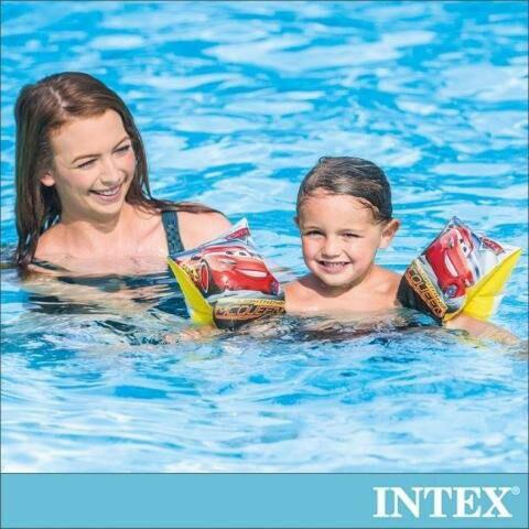 【INTEX】麥坤CARS-游泳圈/臀圈/沙灘球 適用3-6歲 國家檢驗局認證檢驗合格/增加戲水安全性