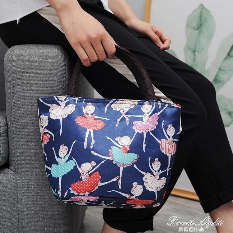 防水加厚牛津帆布飯盒袋手提便當包手提小布包帶飯手拎媽咪女包袋 樂樂百貨