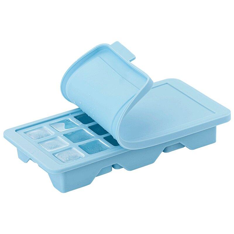 樂扣樂扣冰格冰塊模具硅膠制冰盒制冰器寶寶輔食冰箱家用磨具帶蓋