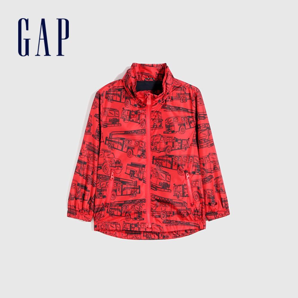 Gap 男幼童 童趣拉鍊式防雨連帽外套 681568-紅色