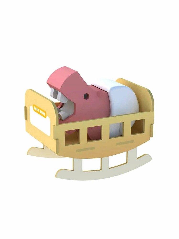 HALFTOYS 3D動物世界 河馬寶寶(3歲以上)