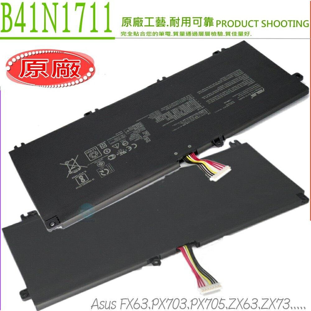 ASUS ZX63 ZX73 B41N1711 電池(原廠長排線)-華碩 ZX63V,ZX63VD,ZX63VM,ZX73VD,ZX73VM,PX703GE,PX705GD,PX705GM,GL503