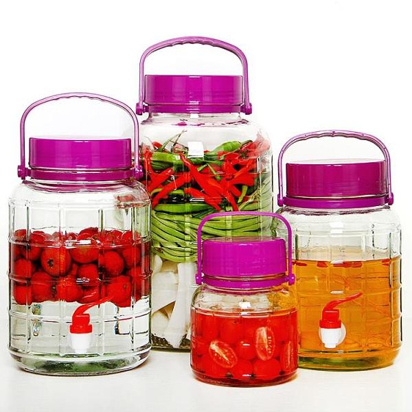 泡酒玻璃瓶帶龍頭專用酒壇家用藥酒瓶10斤泡菜壇子腌菜密封玻璃罐 【蜜斯蜜糖】