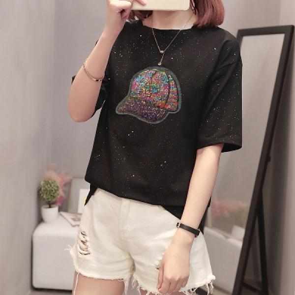 XL-4XL胖妹妹短袖T恤~919#韓版胖MM200斤加肥加大大碼女裝顯瘦t恤潮5F044愛尚布衣