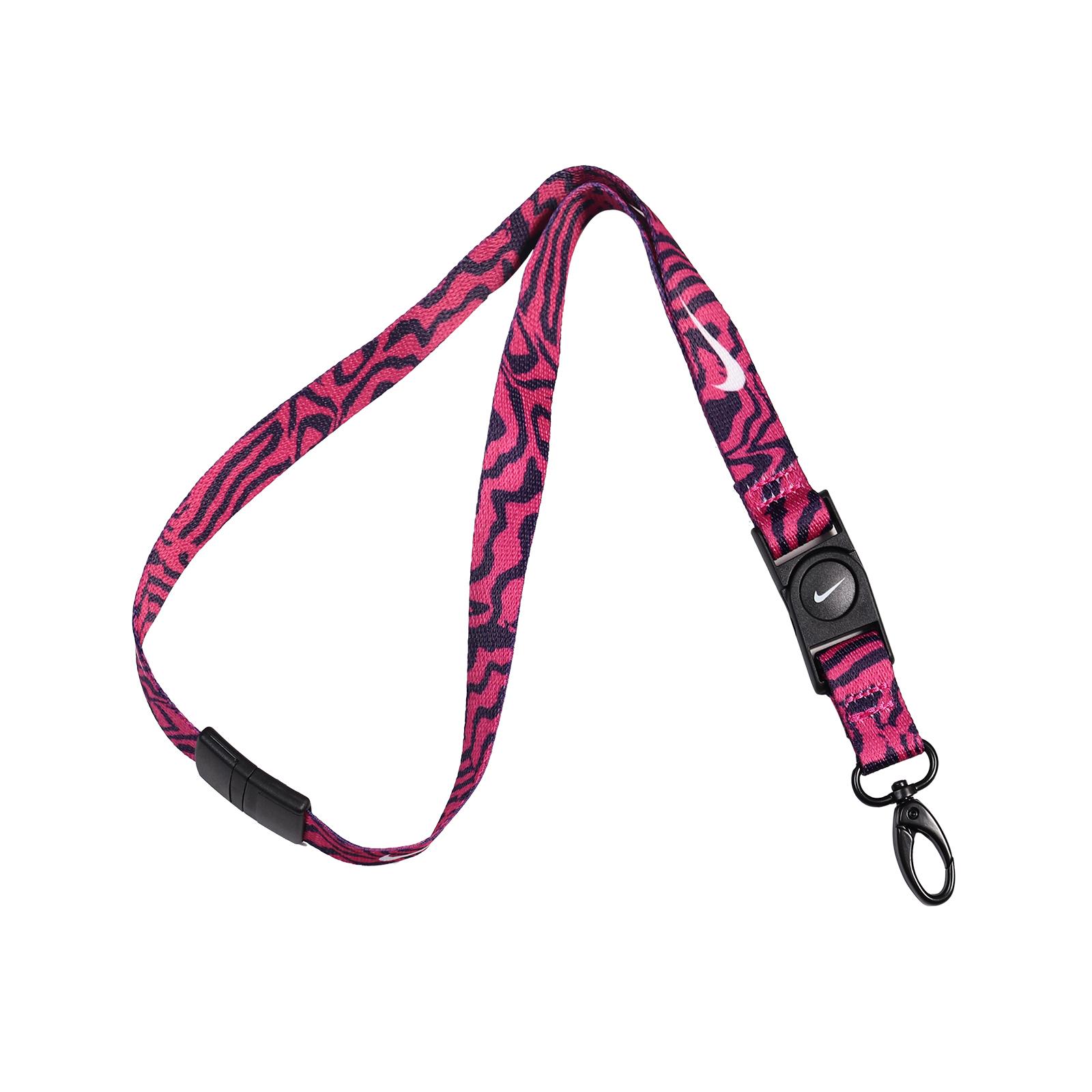Nike 識別證吊帶 Premium Breakaway Lanyard 粉 紫【ACS】 N000162494-9NS